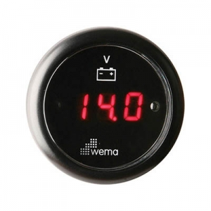 Wema Digital Voltmeter 12-24 Volt Sort