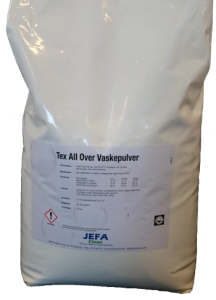 Vaskepulver, Jefa Clean, Tex All Over, 10 kg